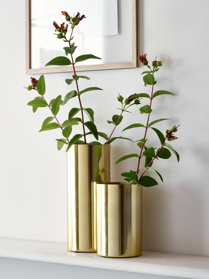 Cox & Cox Vase Brushed Brass Vase