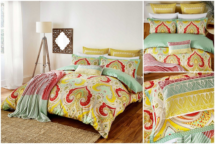 Echo New York Jaipur Paisley Duvet Cover 1