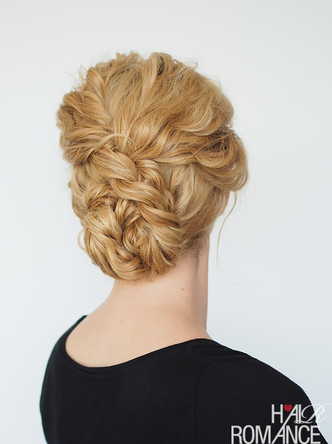 easy curly hair bridesmaid updo