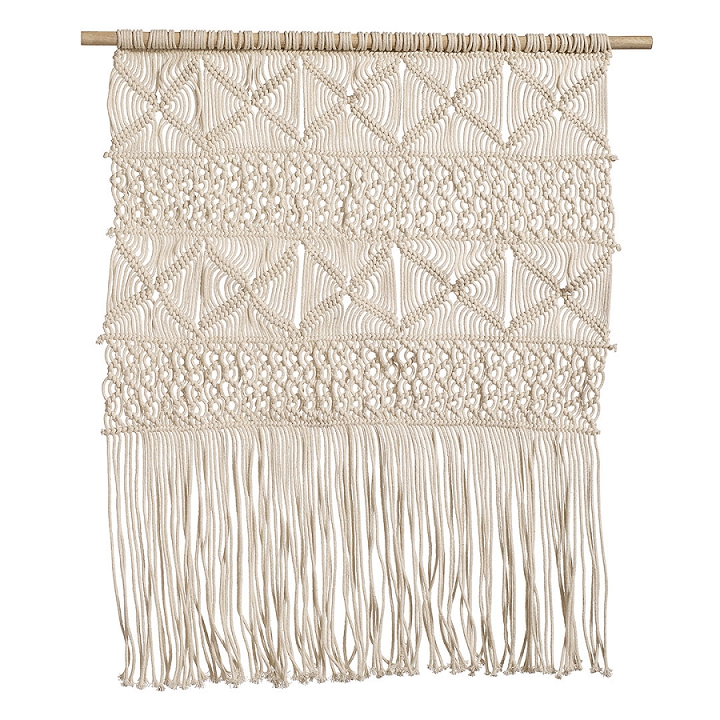 Nordal Bohemian Crochet Wall Hanging, Off White