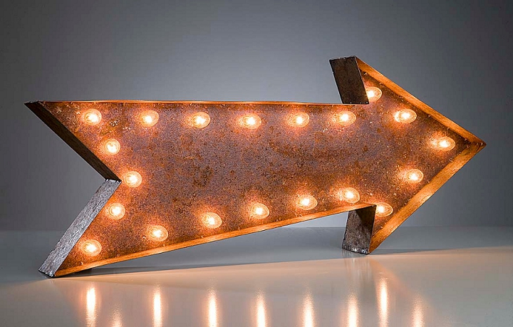 Vintage Letter Lights Arrow 2