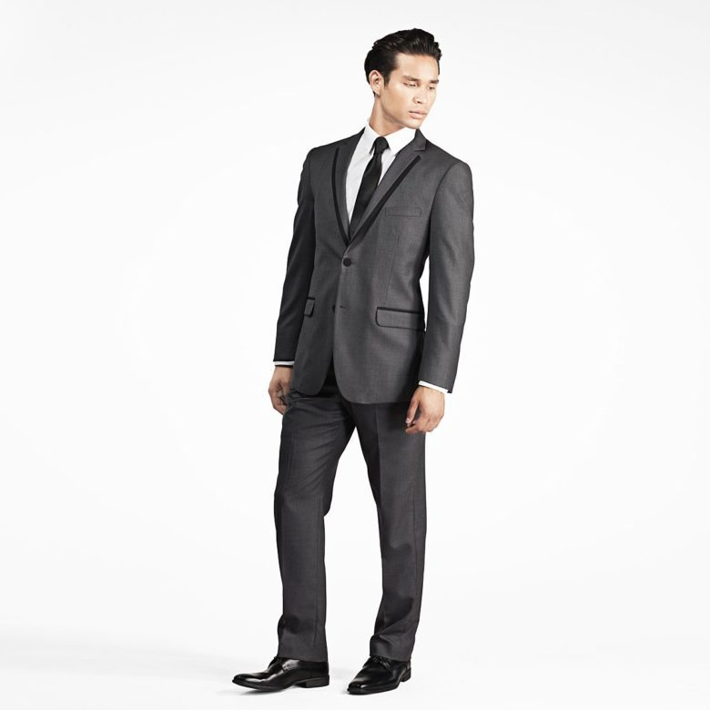 charcoal gray suit from gentux