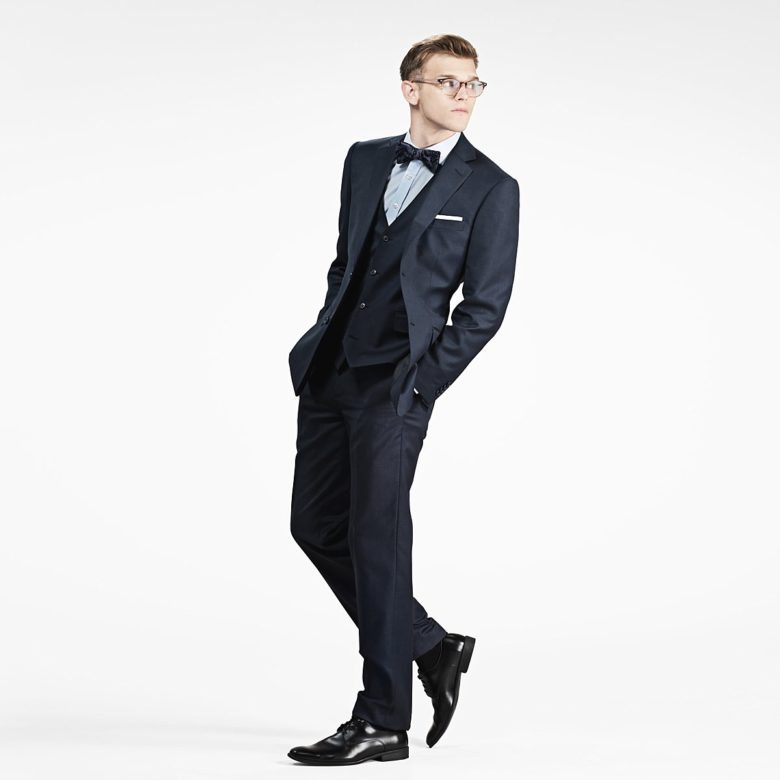 navy notch suit from gentux