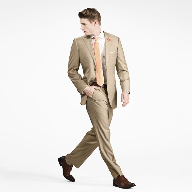 tan notch suit from gentux