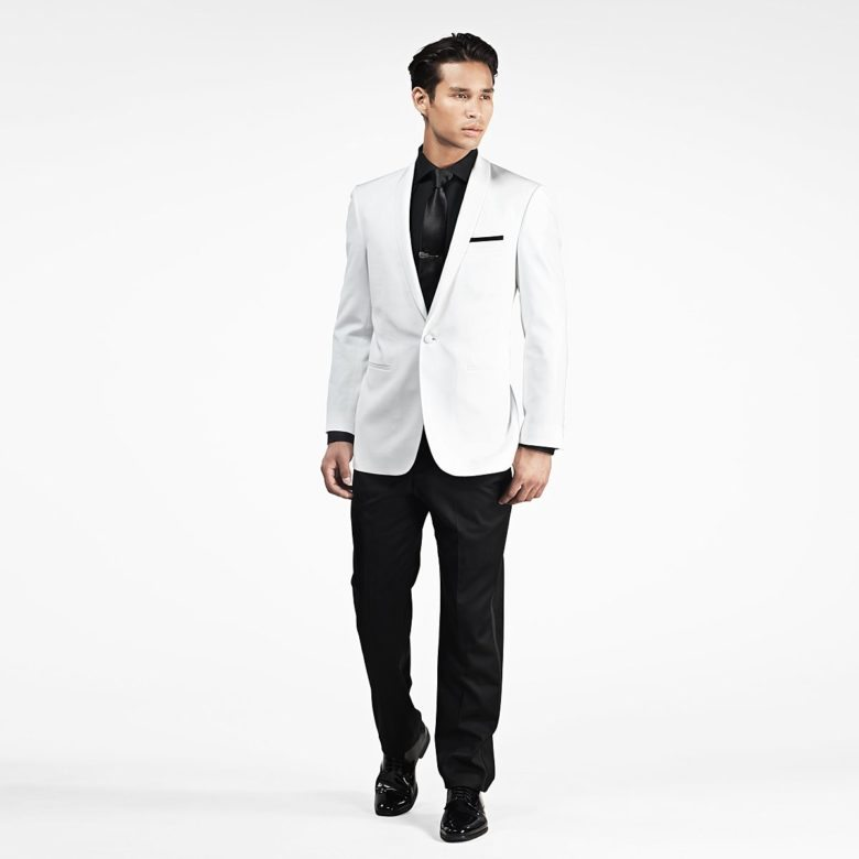 white shawl lapel tux from gentux