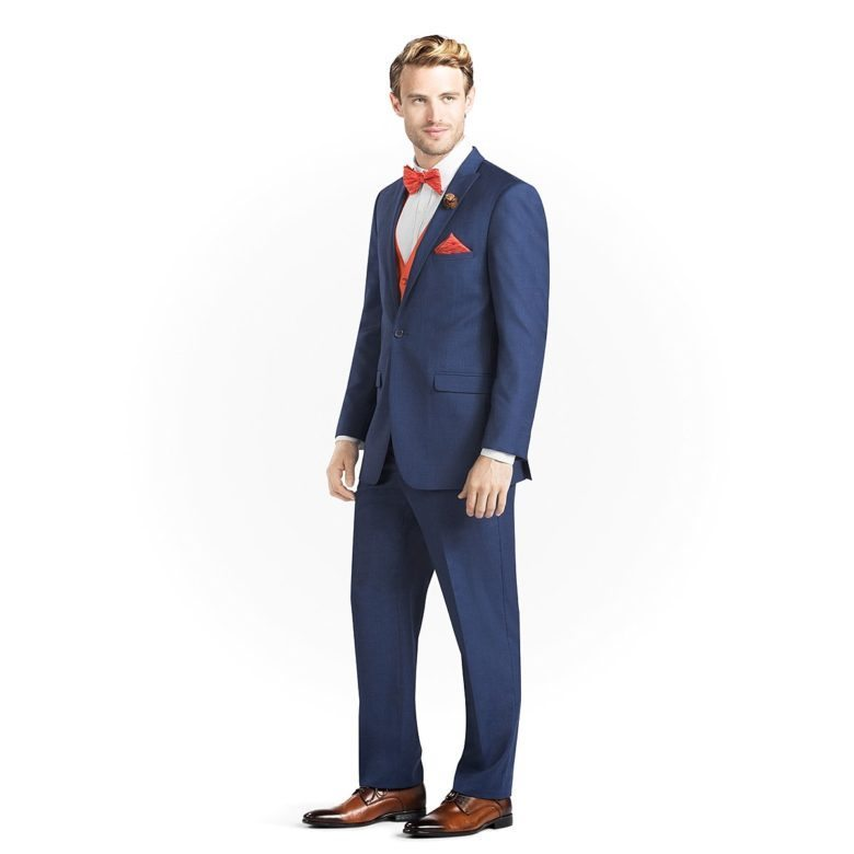 blue peak lapel suit from gentux