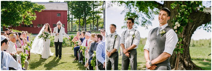 Rustic Chic Jewish Farm Wedding with a beautiful outdoor ceremony by Emily Tebbetts Photography