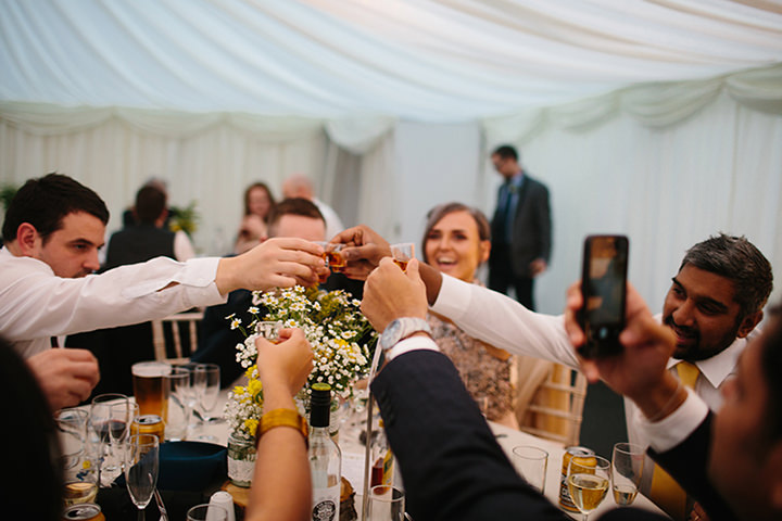 'Dinosaurs and Daisy's' North Wales Wedding by Dan Hough Photography with a yellow and blue colour scheme and lots of homemade details