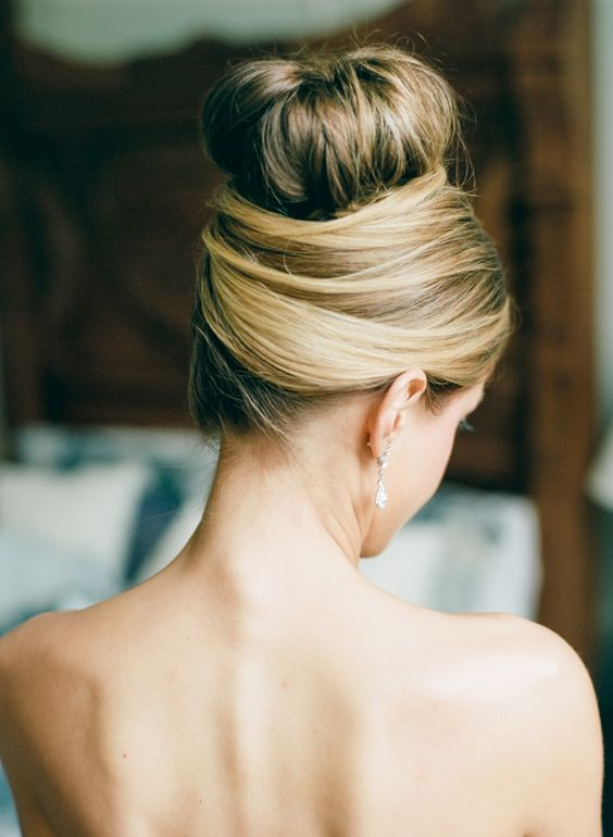 Easy updo french twist bun