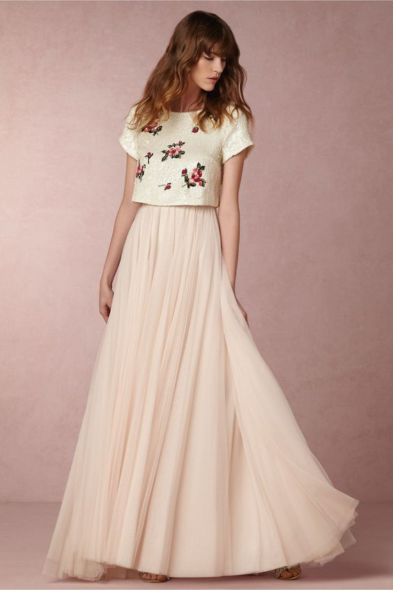 floral wedding dress from bhldn