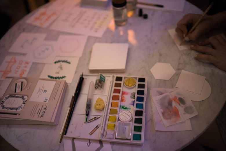 materials used by a minted designer at the cream event 2017