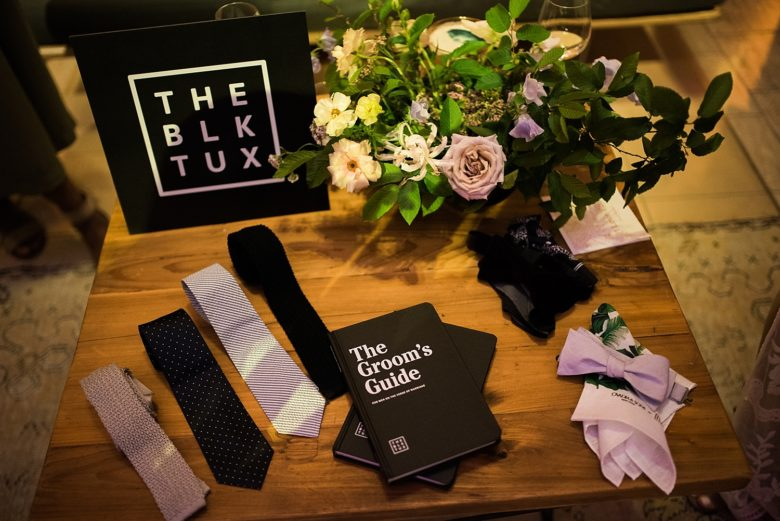 the groom's guide by the black tux