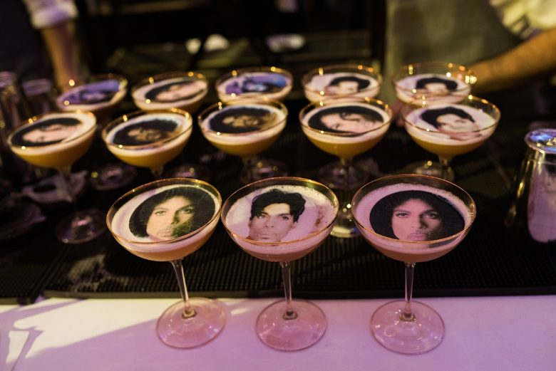 drinks with prince's face on them