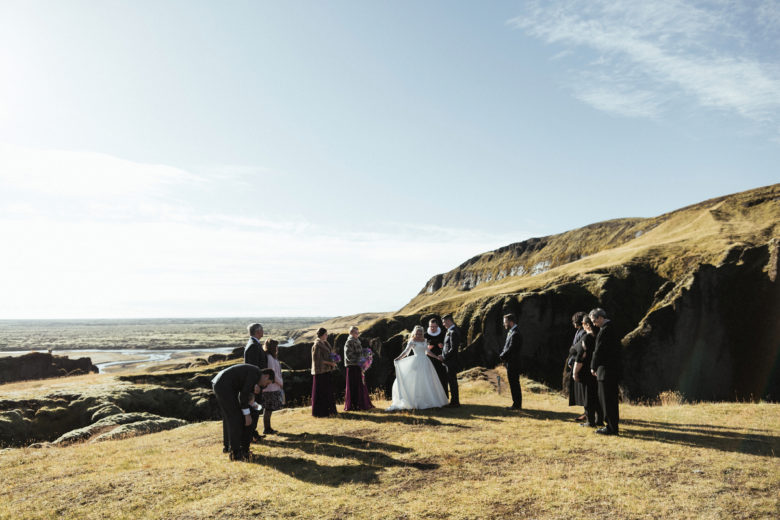 Wedding ceremony in Fjaðrárgljúfur