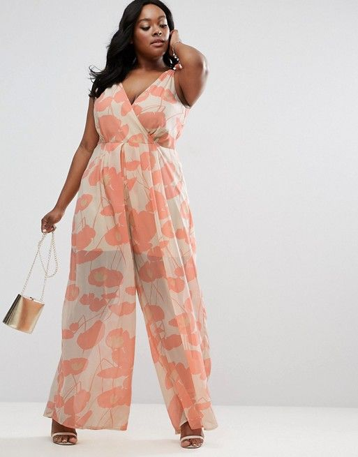 pink and white floral nursing friendly jumpsuit