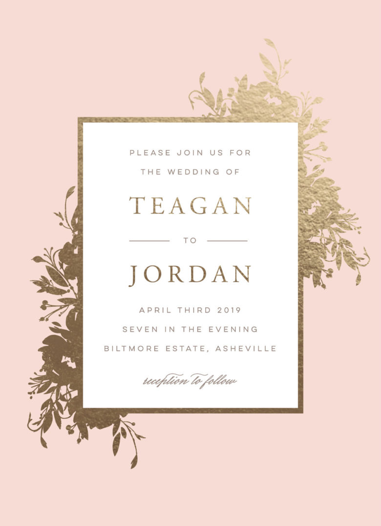 beauty custom foil wedding invitations from minted