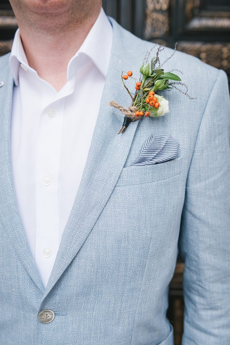second groom's boutonniere