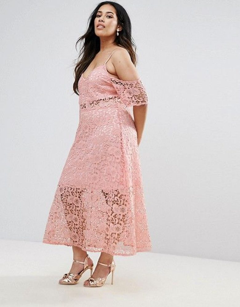 dusty rose slip dress with drop sleeve sheer lace overlay