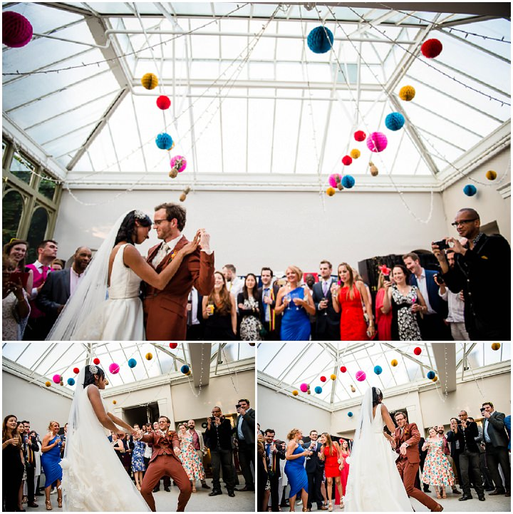 Bright and Colourful Pineapple Filled Hampton Court Wedding by Mona Ali Photography