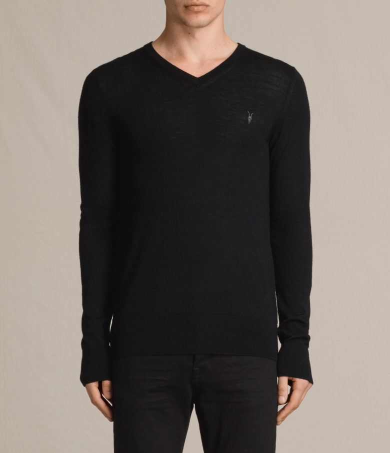 Sweater: Mode Merino V-Neck Jumper from AllSaints