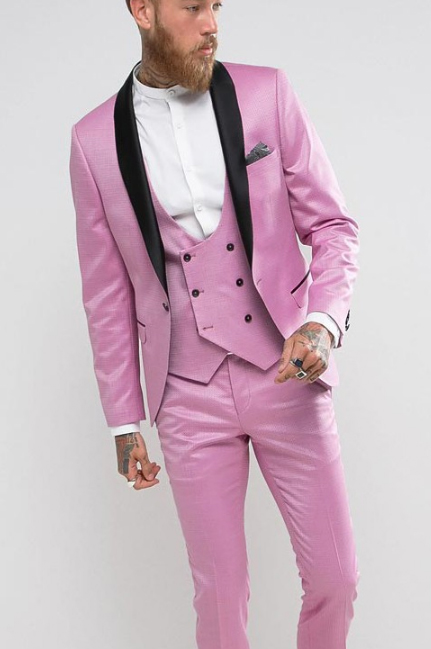 Noose & Monkey Super Skinny Tux in Pink from ASOS