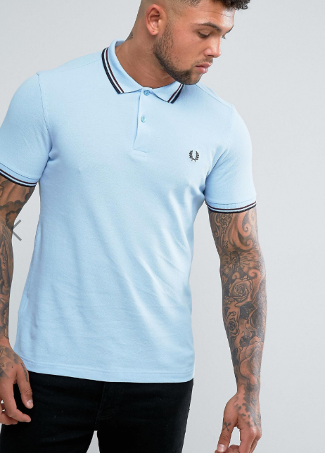Shirt: Fred Perry Slim Fit Twin Tipped Polo Shirt from ASOS