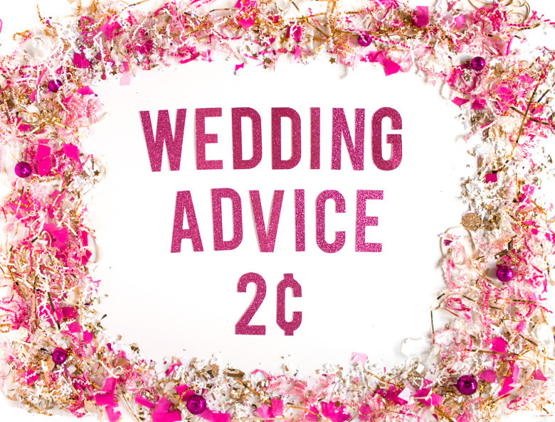 Wedding Advice Two Cents Sign For Tea Dye Feature