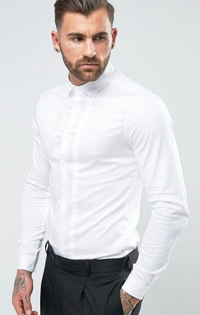 ASOS white sateen shirt