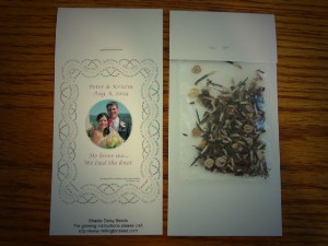flower seeds wedding favors for sale