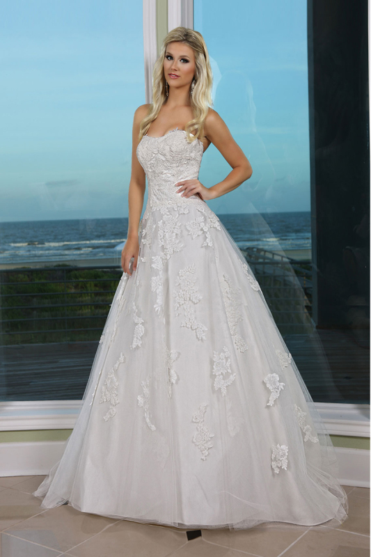 Strapless Lace Wedding dresses