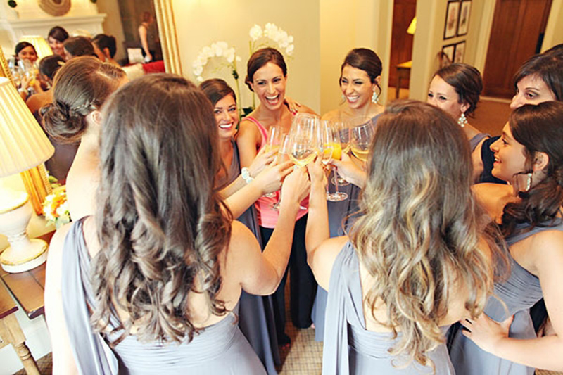 Get the bridesmaids involved.