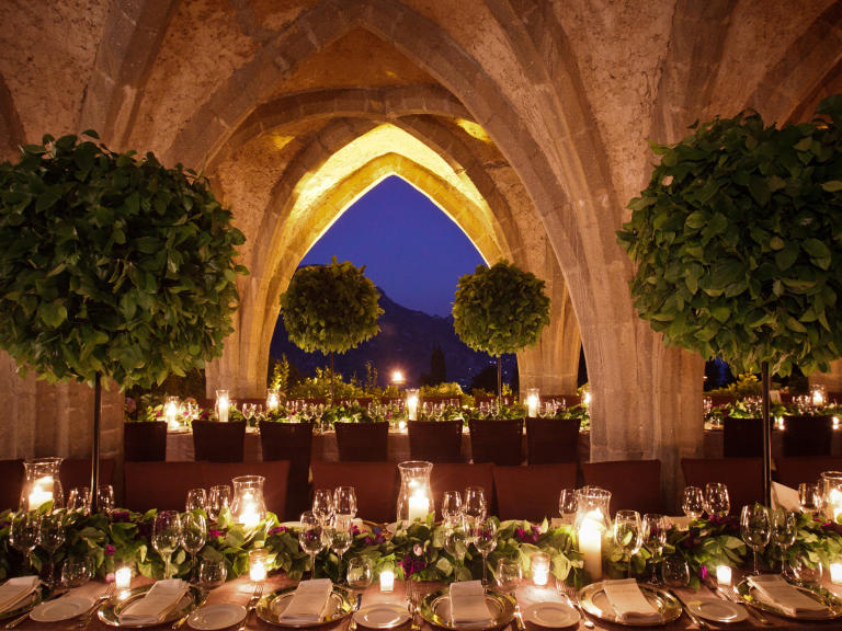 A Dramatic Vaulted Reception Venue