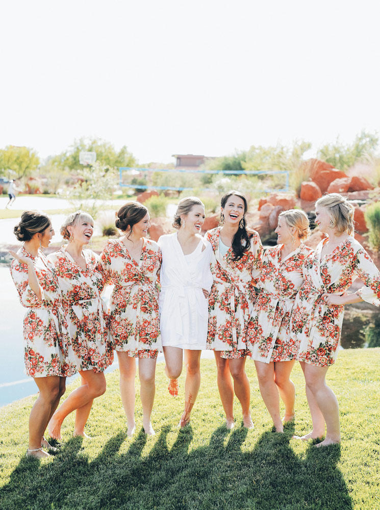 Bride and Bridal Party Getting-Ready Outfits