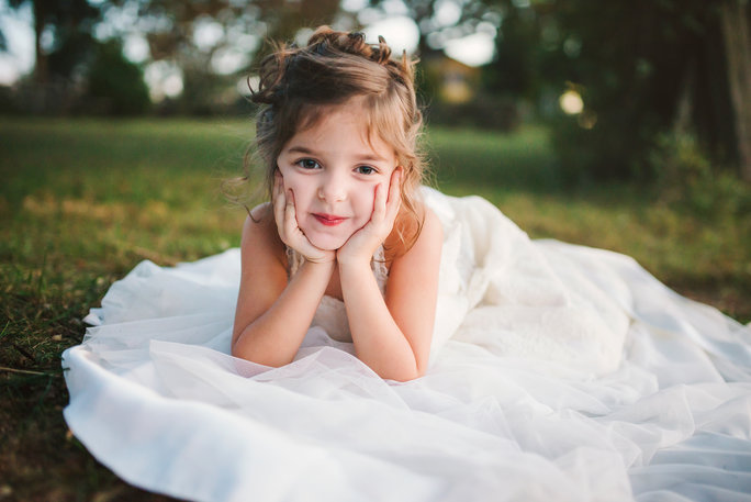 The Little Girl Wore Her Late Mom's Wedding Dress