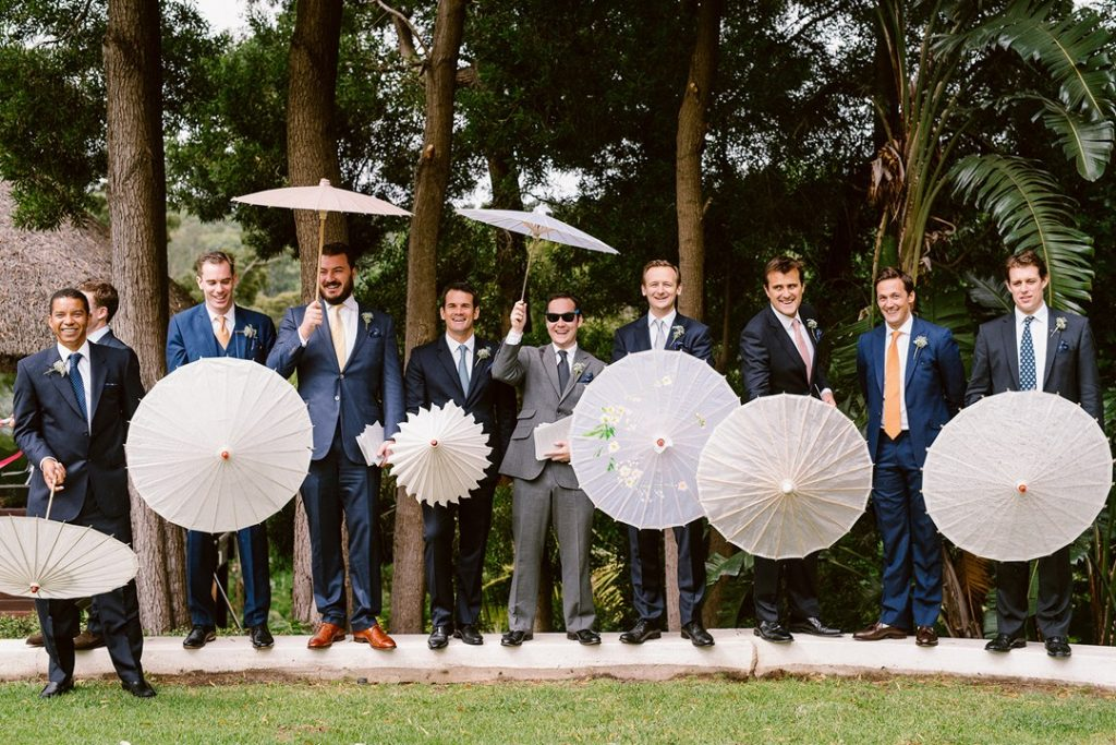 groom and his brother group