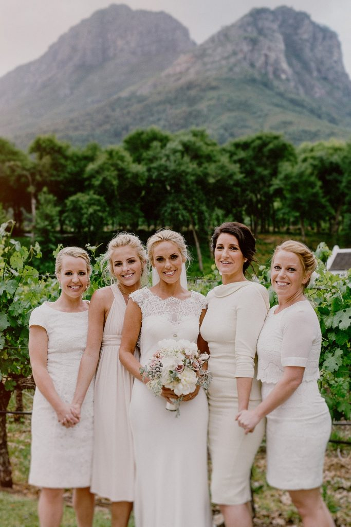 bride and her sister group