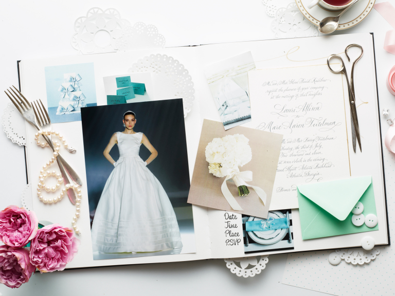Wedding planning and inspiration scrapbook