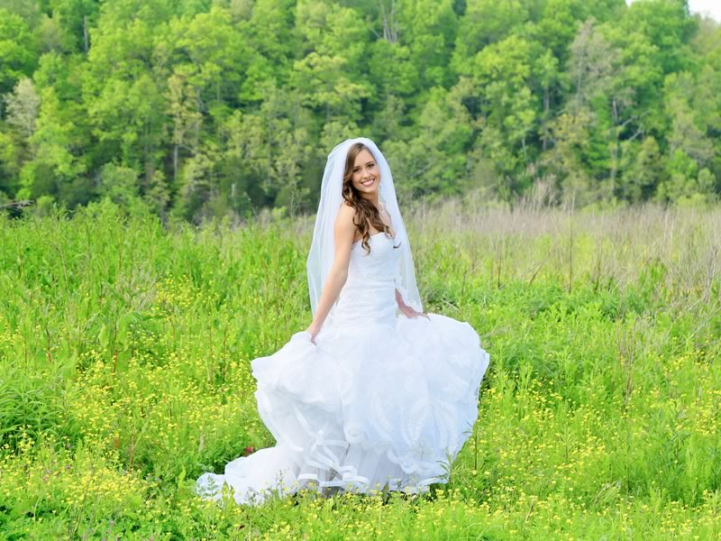 the bride on wildfield