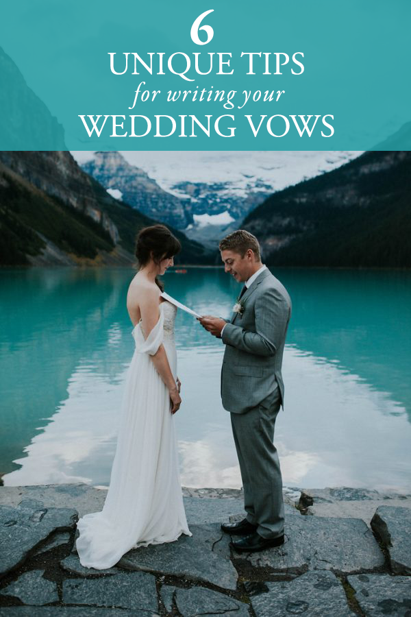 6 unique tips for writting your wedding vows