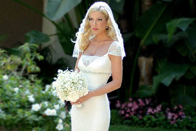 Tori Spelling Wedding Dress